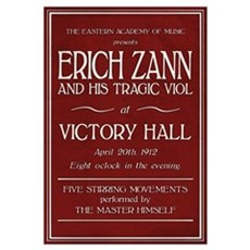 Erich Zann Concert (Large) Canvas Art