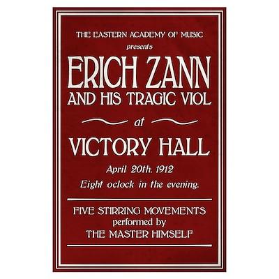 Erich Zann Concert (Large) Poster