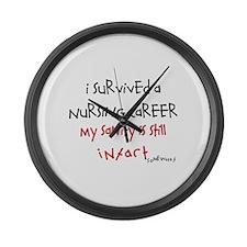 Retired Nurse Large Wall Clock
