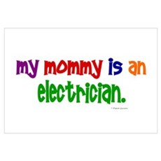 My Mommy Is An Electrician PRIMARY r Framed Print