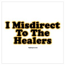 I Misdirect To The Healers Framed Print