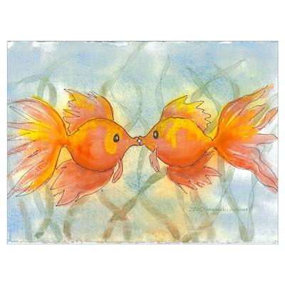 Kissing Fish Poster