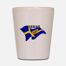 Swedish Moose Flag Shot Glass