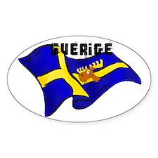 Swedish Moose Flag Decal