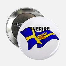 "Swedish Moose Flag 2.25"" Button"