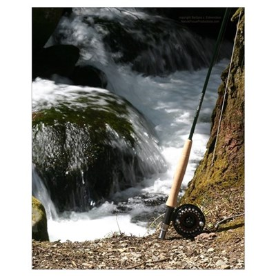 Fly Fishing Rod Poster
