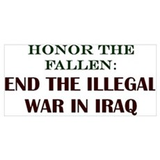END IRAQ WAR! Framed Print