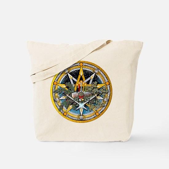 Yule Pentacle Tote Bag