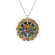 Yule Pentacle Necklace Circle Charm