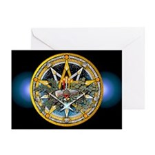 Yule Pentacle Greeting Cards (Pk of 10)