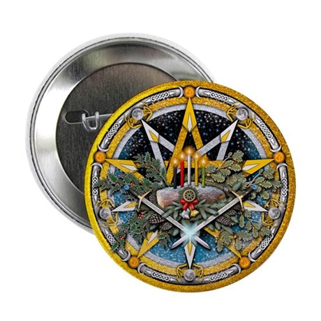 """Yule Pentacle 2.25"""" Button (100 pack)"""