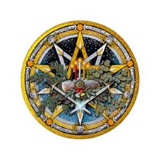 "Yule Pentacle 3.5"" Button"