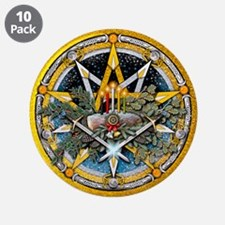 """Yule Pentacle 3.5"""" Button (10 pack)"""