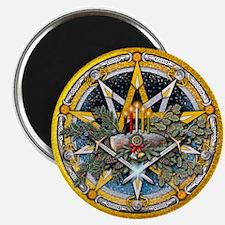 Yule Pentacle Magnet