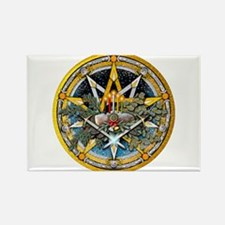 Yule Pentacle Rectangle Magnet