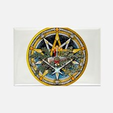 Yule Pentacle Rectangle Magnet (100 pack)