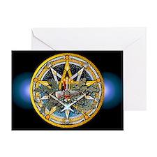 Yule Pentacle Greeting Card