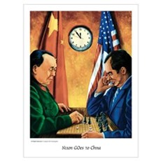 """Nixon GOes to China"" Framed Print"