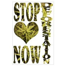 STOP DEFORESTATION NOW Poster