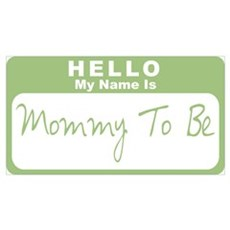 My Name Is Mommy To Be (Green) Framed Print