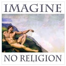 """Imagine No Religion"" Framed Print"