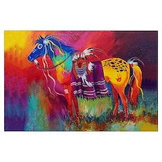 Orange Butt War Horse Poster