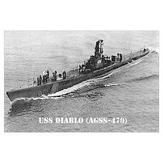 USS DIABLO Poster