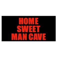 Home Sweet Man Cave RED Poster