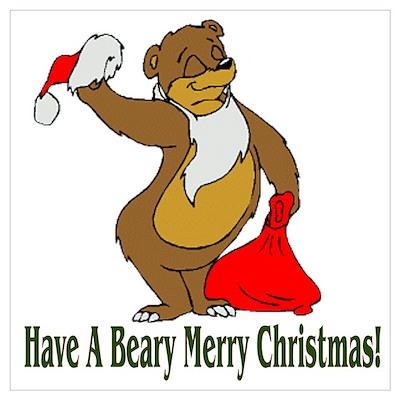 Beary Merry Christmas Poster