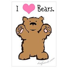 I Love Bears Poster