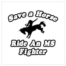 """""""Ride an MS Fighter"""" Poster"""