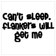 Can't Sleep Flankers Will Get Me Rugby Poster