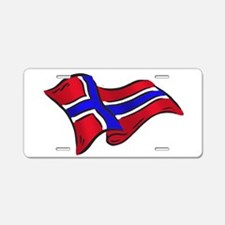 Norwegian flag of Norway Aluminum License Plate
