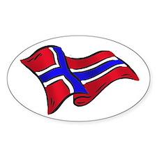 Norwegian flag of Norway Decal