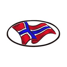 Norwegian flag of Norway Patches