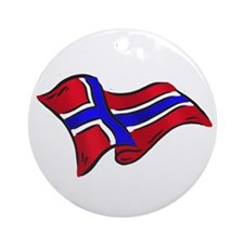 Norwegian flag of Norway Ornament (Round)