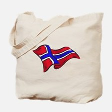Norwegian flag of Norway Tote Bag