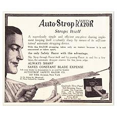1909 Auto Strop Ad Poster