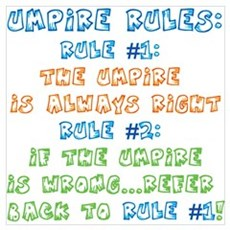 Umpire Rules Poster