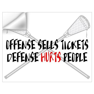 Lacrosse Defense Hurts Wall Decal