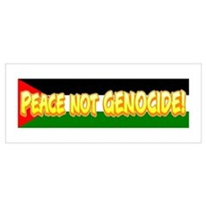 Peace Not Genocide Poster