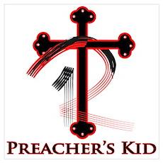 PK Cross (Red/Blk) Logo Poster