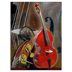 Upright Bass Art 1 Poster