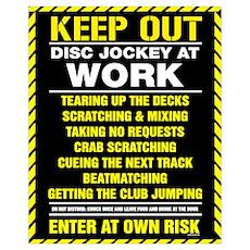 Disc Jockey At Work Poster