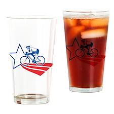Cyclist cycling racing Drinking Glass