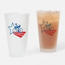 Cyclist cycling racing Drinking Glass