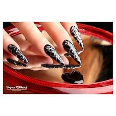 Nail Art - Black/Silver Stilettos Poster