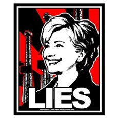 Clinton: LIES Canvas Art