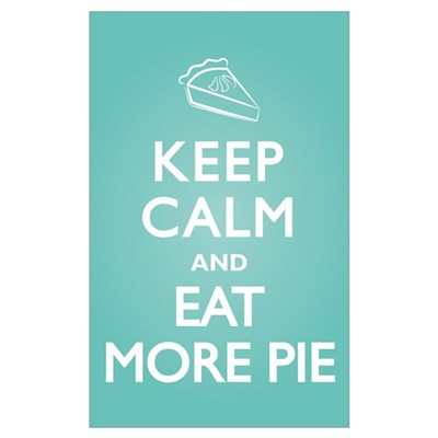 Keep Calm Eat Pie Framed Print
