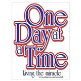 One day at a time Wrapped Canvas Art